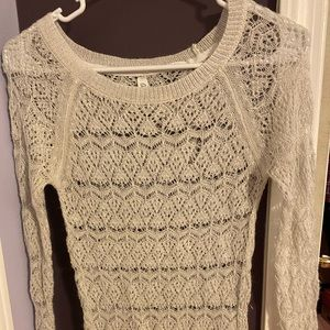 Aeropostale Off white sheer sweater
